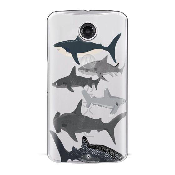 Nexus 6 Cases - Sharks iphone7 case, shark week phone case, sharks phone clear case