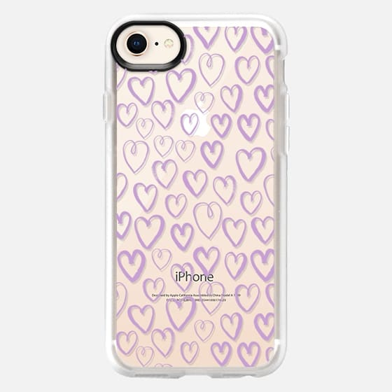 pastel purple hearts love valentines day gifts for her cell phone case iphone6 transparent - Snap Case
