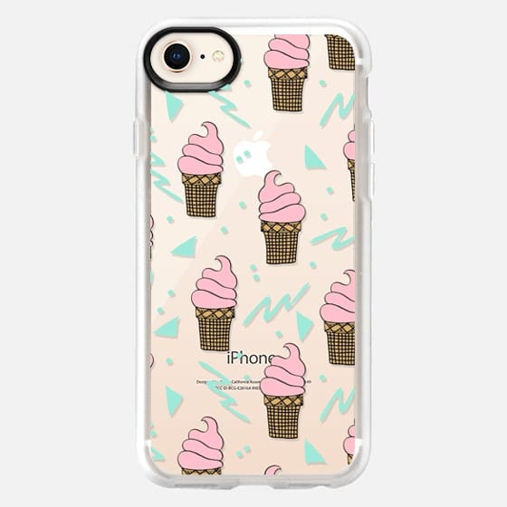 Summer cones - ice cream food trendy cute pink ice creams clear phone case - Snap Case