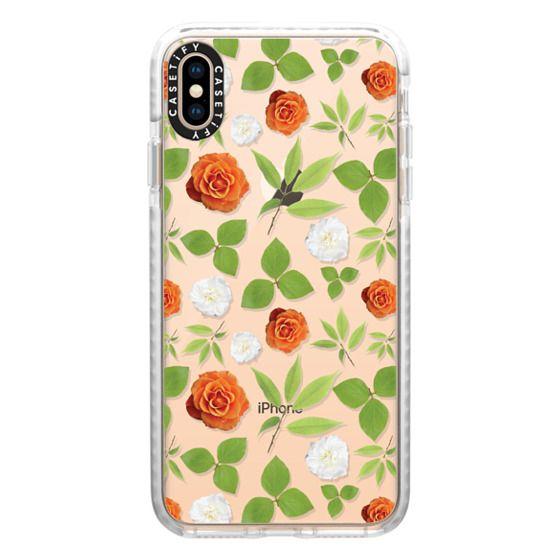 iPhone XS Max Cases - Pressed Floral Orange Bloom