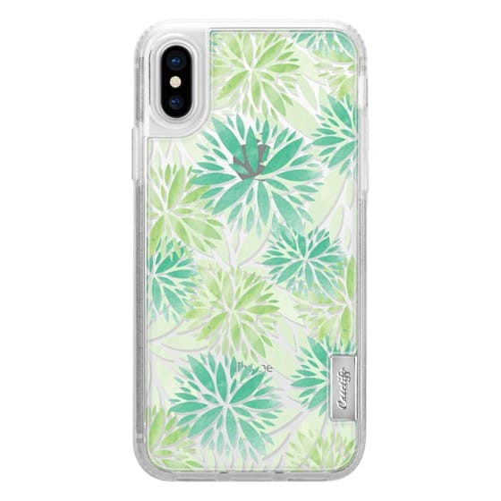 iPhone X Cases - Pom Floral Green