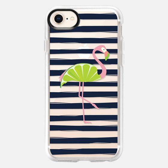 Citrus Flamingo - Lime - Snap Case