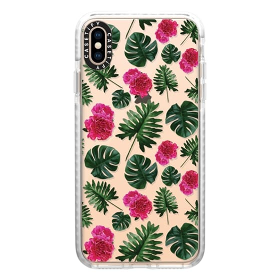 iPhone XS Max Cases - Pressed Floral Tropical