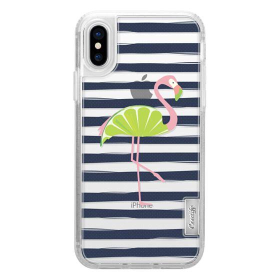 iPhone X Cases - Citrus Flamingo - Lime