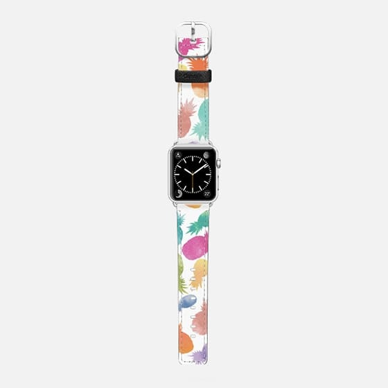 Dippin Pineapple Dots - Saffiano Leather Watch Band