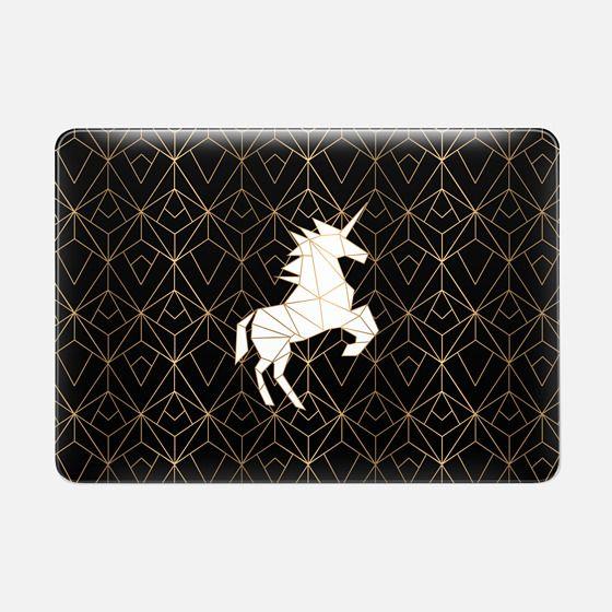Geometric Unicorn Noir - Macbook Snap Case