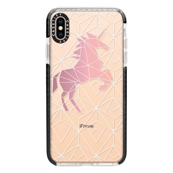 iPhone XS Max Cases - Geometric Unicorn