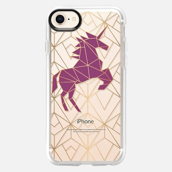Geometric Unicorn - Gold Luxe - Snap Case
