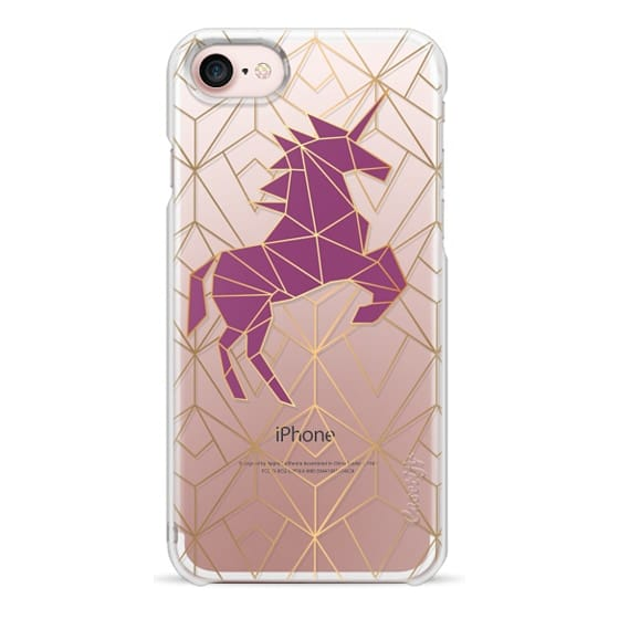 iPhone 7 Cases - Geometric Unicorn - Gold Luxe