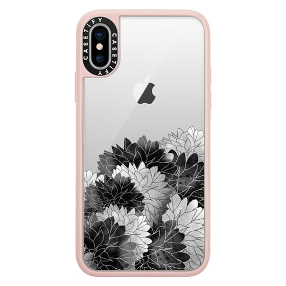 iPhone X Cases - Hydrangea Haven Noir