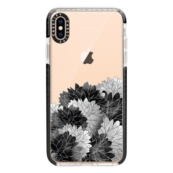 iPhone XS Max Cases - Hydrangea Haven Noir