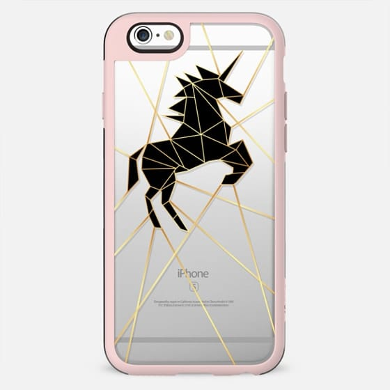 Geometric Unicorn Gold Luxe and Noir - New Standard Case
