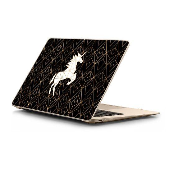 MacBook 12 Sleeves - Geometric Unicorn Noir