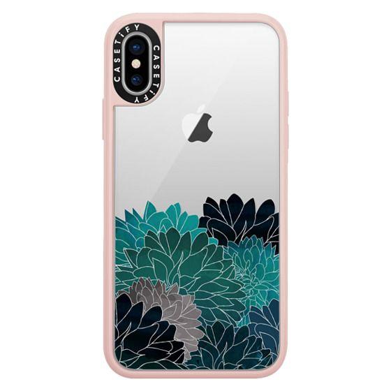 iPhone X Cases - Hydrangea Haven Emerald