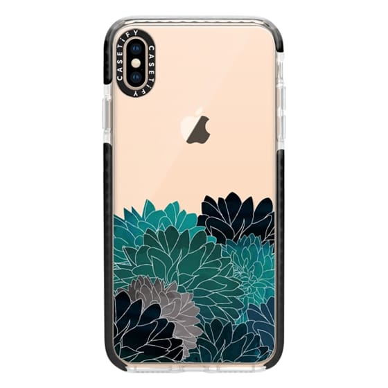 iPhone XS Max Cases - Hydrangea Haven Emerald