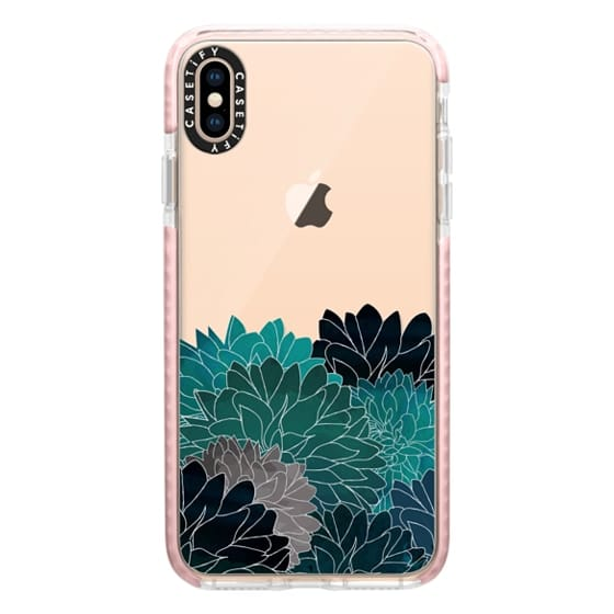 iPhone XS Max Cases - Hydrangea Haven Emerald