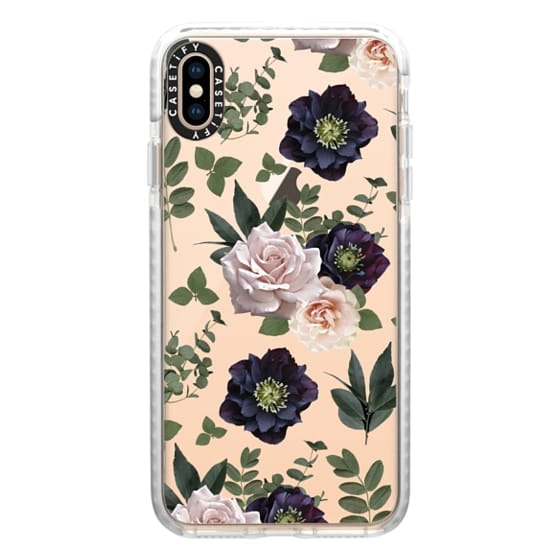 iPhone XS Max Cases - Pressed Floral Plum