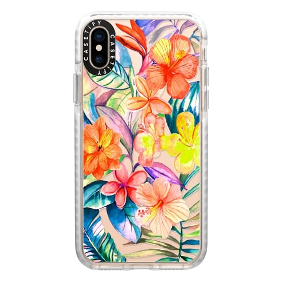 iPhone XS Cases - Bright tropical Jungle