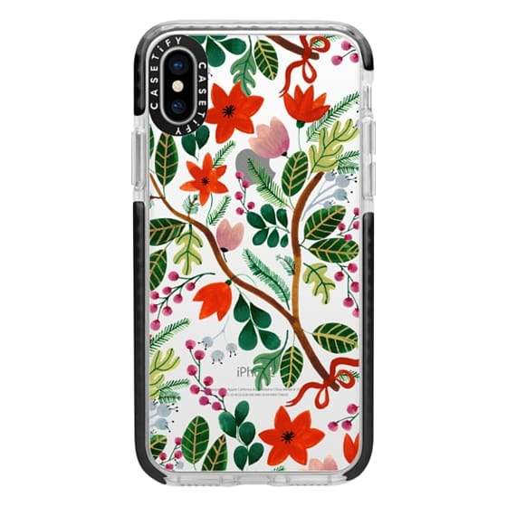 iPhone X Cases - Christmas Florals