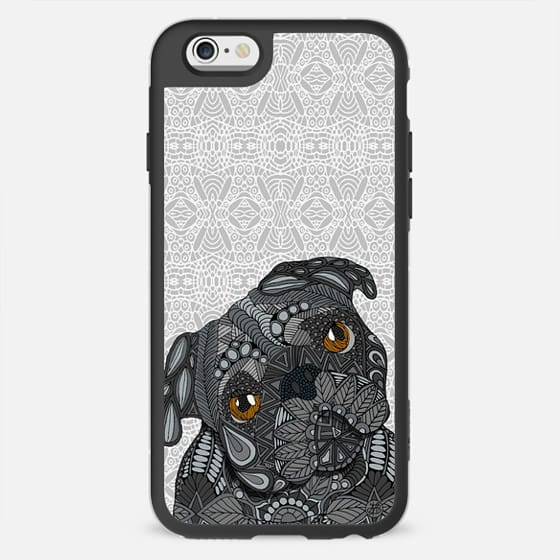 Black Pug Dog - New Standard Case