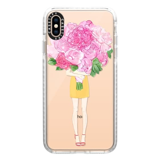 iPhone XS Max Cases - Girl and Peonies