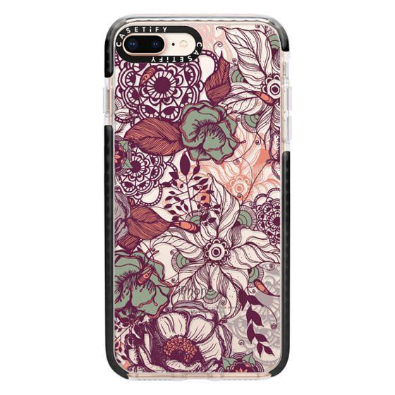 iPhone 8 Plus Cases - Vintage Floral