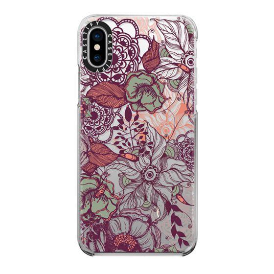 iPhone X Cases - Vintage Floral
