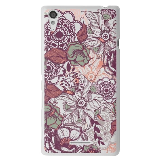 Sony T3 Cases - Vintage Floral