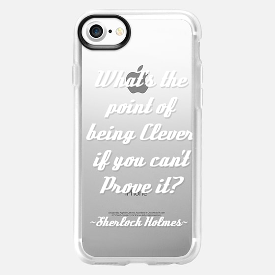 What's the Point of Being Clever? Sherlock Holmes Quote - Wallet Case
