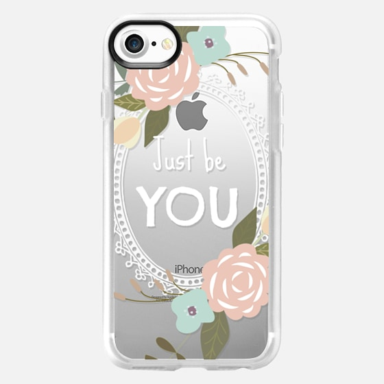 Just be YOU Floral Transparent - Wallet Case