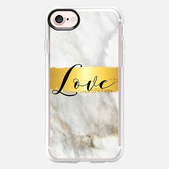 Marbled Gold Love - Classic Grip Case