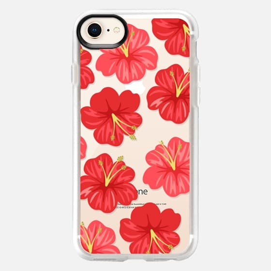 Hawaiian Hibiscus Red Flowers - Snap Case