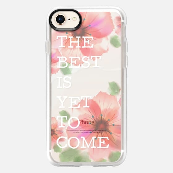 The Best is Yet to Come Transparent Watercolor Floral Graduation - Snap Case