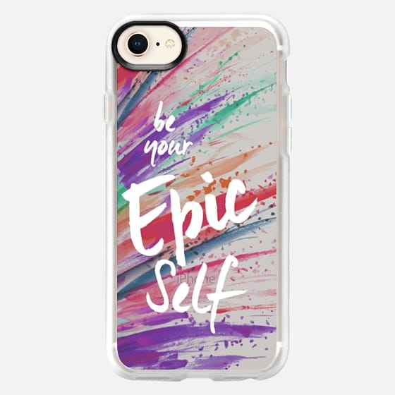 be your Epic Self on Paint Splatter - Snap Case