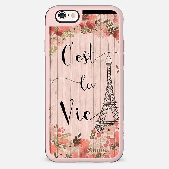 C'est La Vie on Pink Floral -
