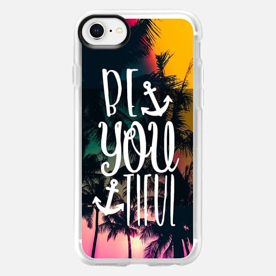 Be YOU tiful Tropical with Anchors - Snap Case