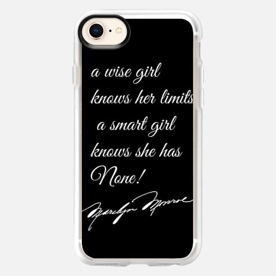 No Limits Marilyn Monroe Quote - Snap Case