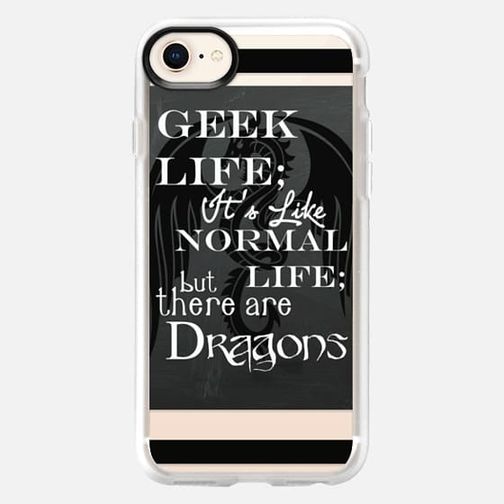 Geek Life with Dragons Fathers Day Graduation Gift  - Snap Case
