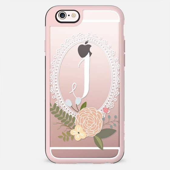 Initial -ly Yours Floral Monogram J - New Standard Case