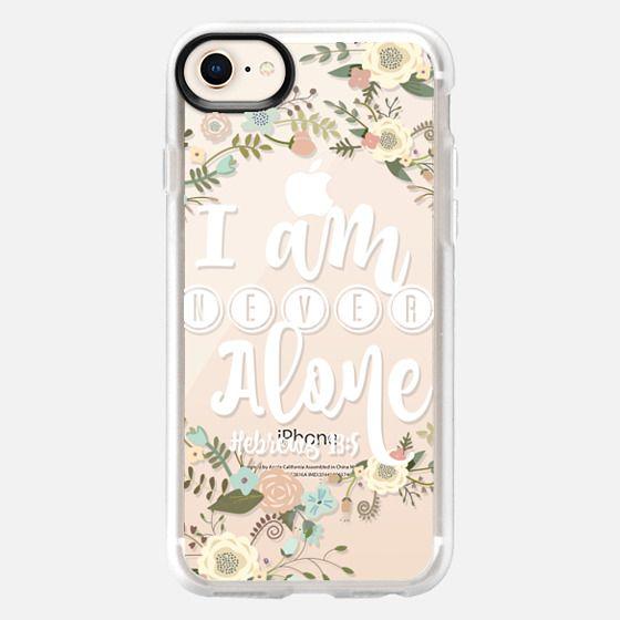 I am Never Alone Hebrews 13:5 Floral - Snap Case