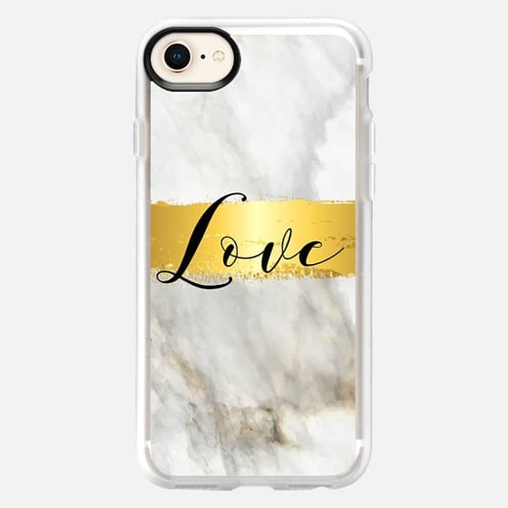 Marbled Gold Love - Snap Case