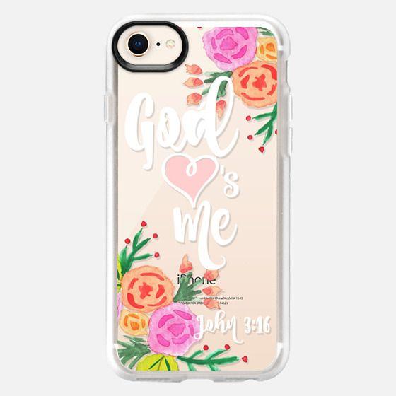 God Loves Me Floral John 3:16 - Snap Case