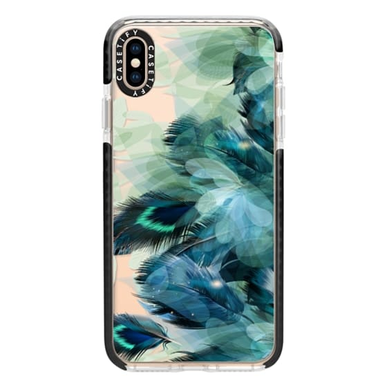 iPhone XS Max Cases - Peacock Dream