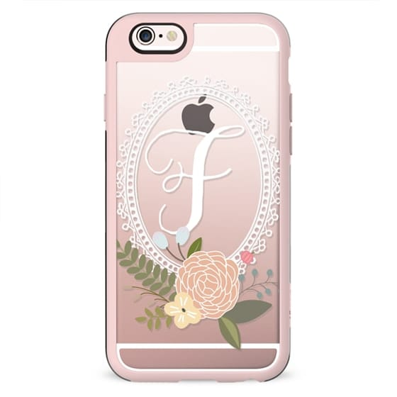Initial -ly Yours Floral Monogram F Android
