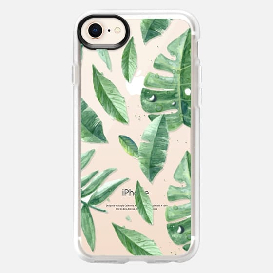 Big Tropical Leaves with Dew - Snap Case