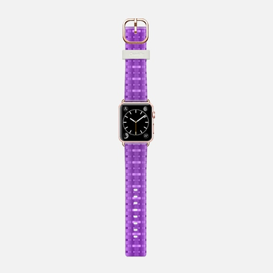 purple weaving - Saffiano Leather Watch Band