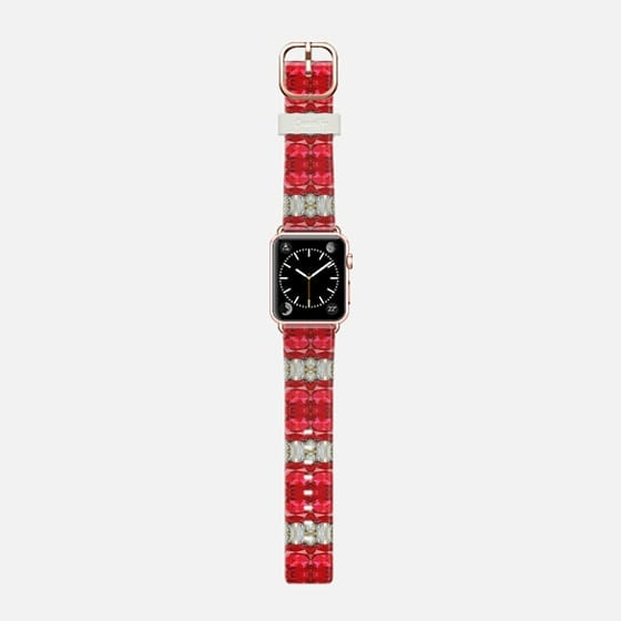 rubis - Saffiano Leather Watch Band