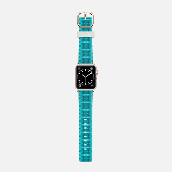 turquoise weaving - Saffiano Leather Watch Band