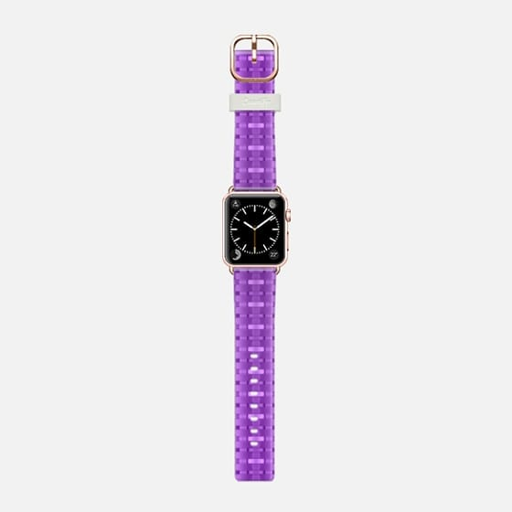 purple weaving - Saffiano Leather Watch Band