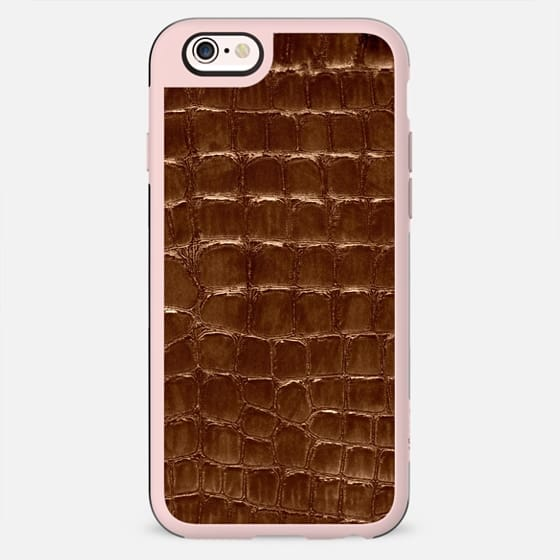 marsala faux croco - New Standard Case